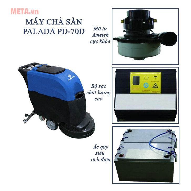 Máy chà sàn liên hợp Palada PD-70D