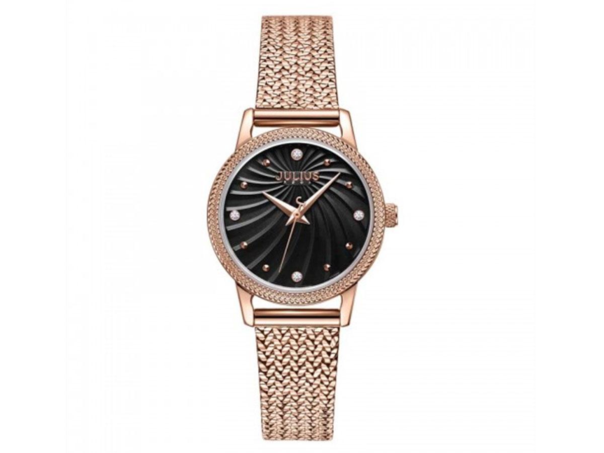 Đồng hồ nữ Julius JA-1219 mặt đen