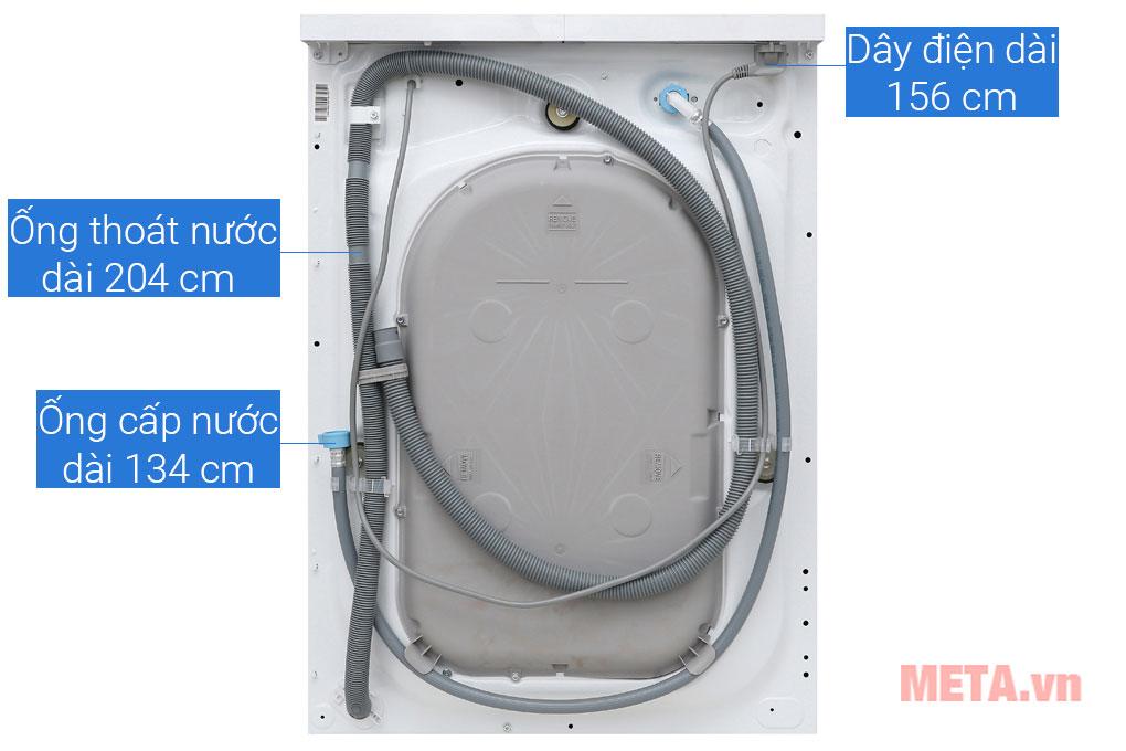 Hình ảnh phía sau của náy giặt cửa trước Electrolux