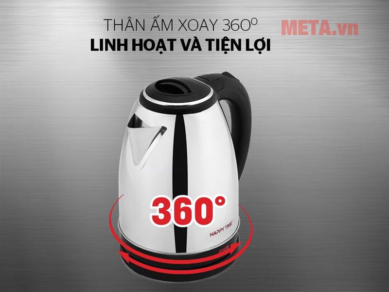 Chân đế tiếp điện xoay 360 độ thuận tiện cho việc đặt ấm