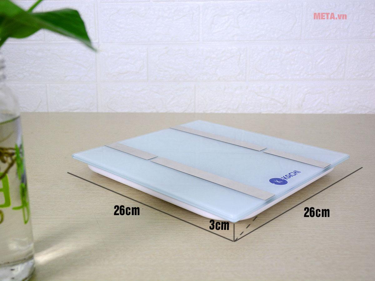 Kích thước cân điện tử Kachi MK134