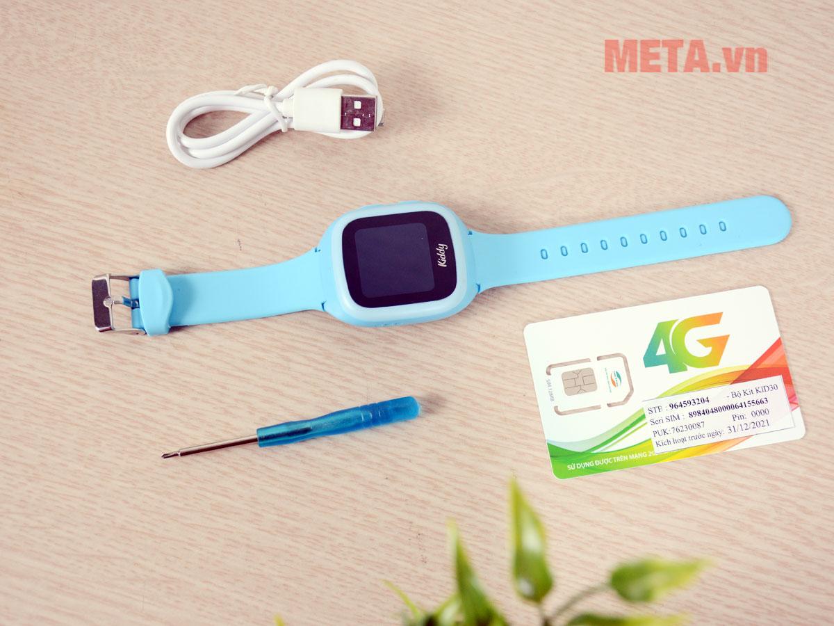 Trọn bộ sản phẩm đồng hồ định vị Kiddy 2