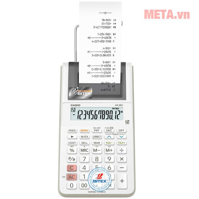 Máy in hóa đơn mini thiết kế dành cho quầy hàng nhỏ, bán hàng lưu động