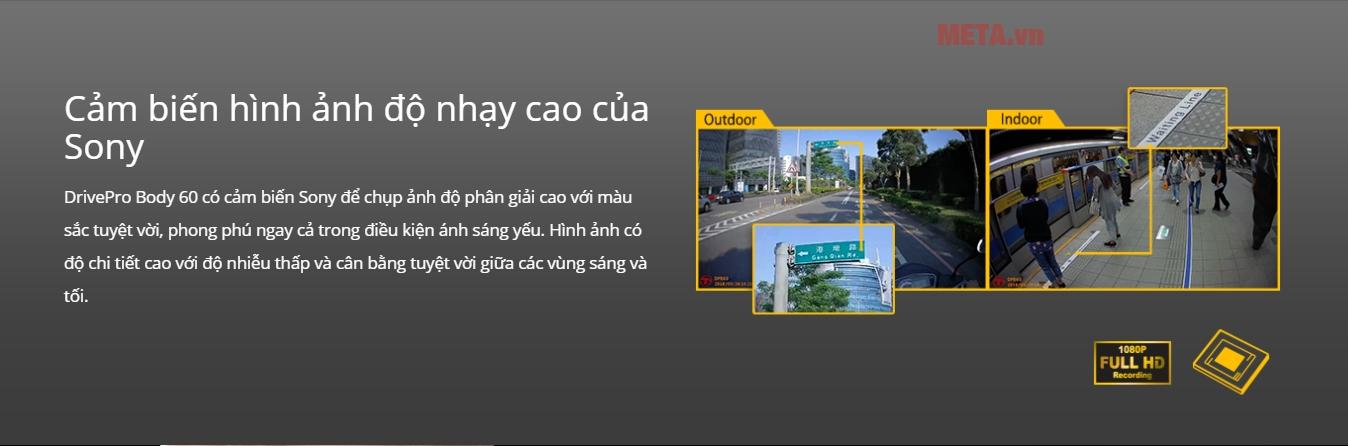 Camera DrivePro Body 60 hỗ trợ độ phân giải cao, cho hình ảnh siêu nét