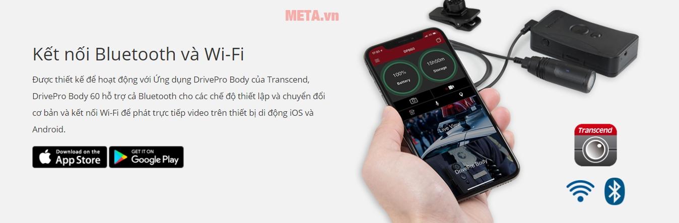 Camera Transcend kết nối Bluetooth - Wifi, hỗ trợ phát video trực tiếp trên các thiết bị di động