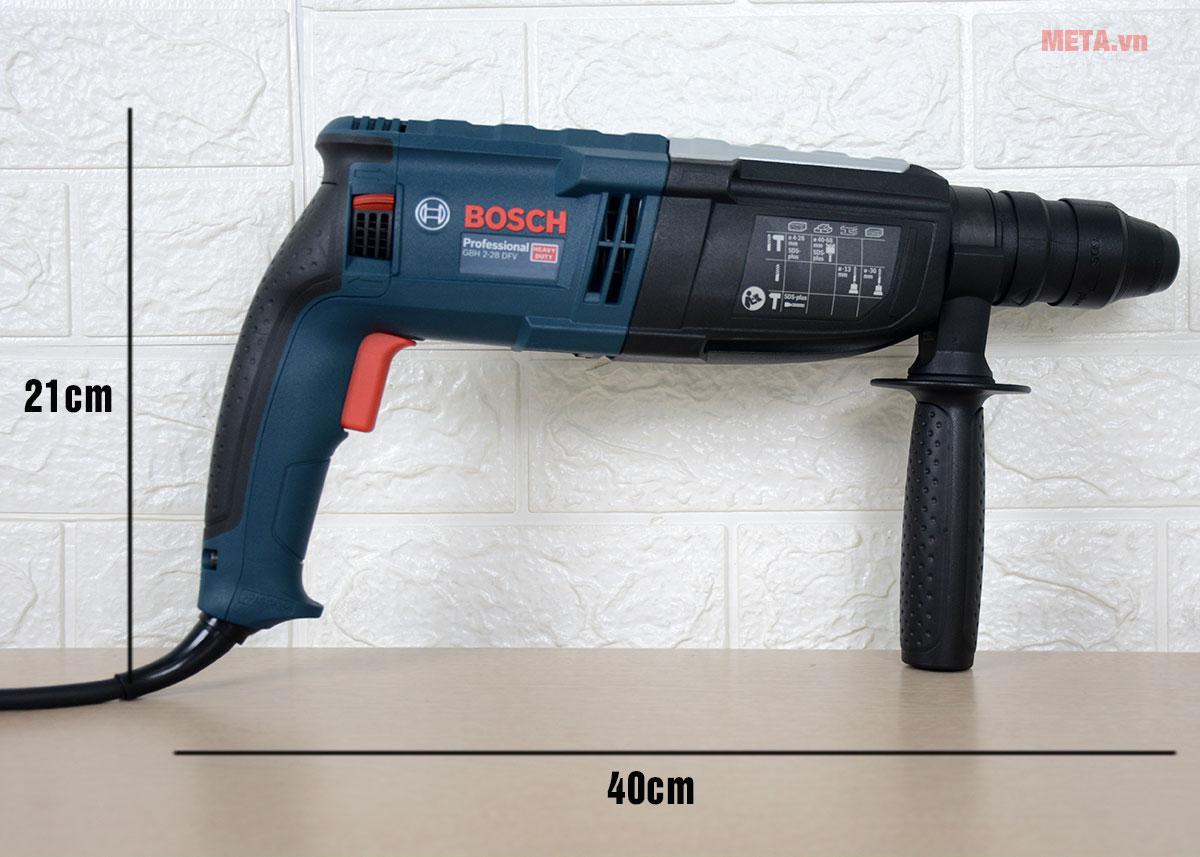 Kích thước máy khoan búa Bosch GBH 2-28 DFV