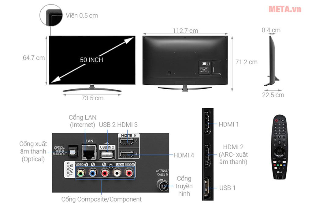 Cấu tạo và kích thước TV LG
