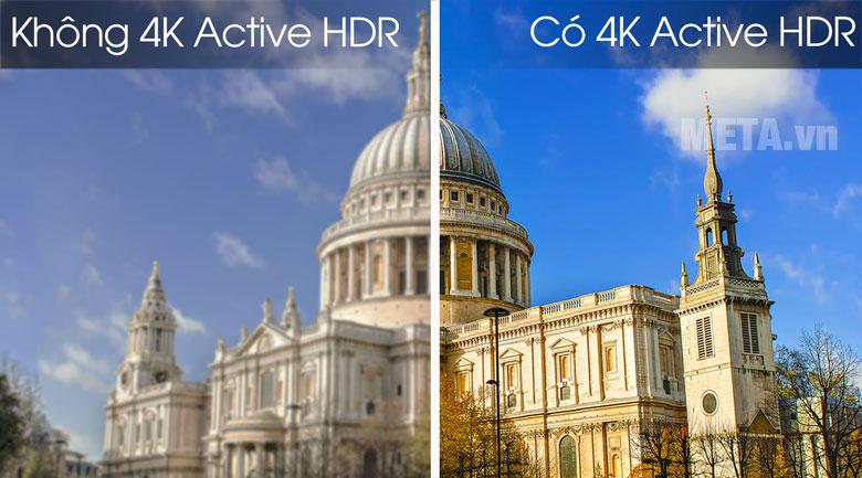Công nghệ 4K Active HDR mang đến những khung hình chân thật