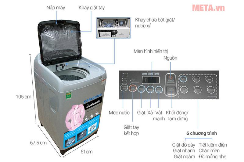 Máy giặt lồng đứng Samsung