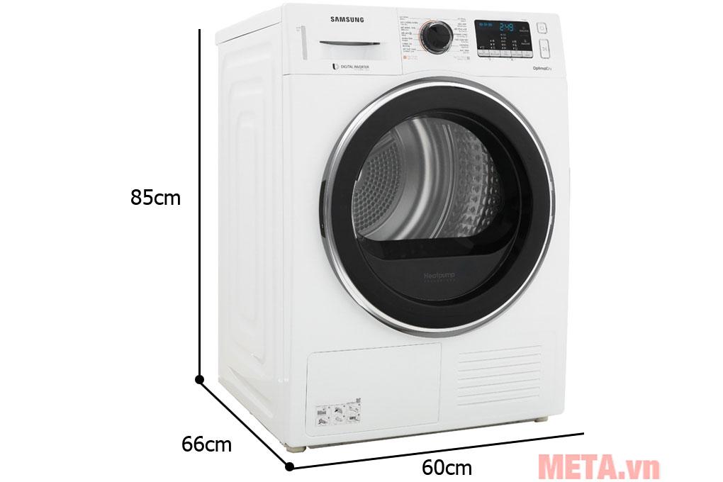 Kích thước máy sấy quần áo