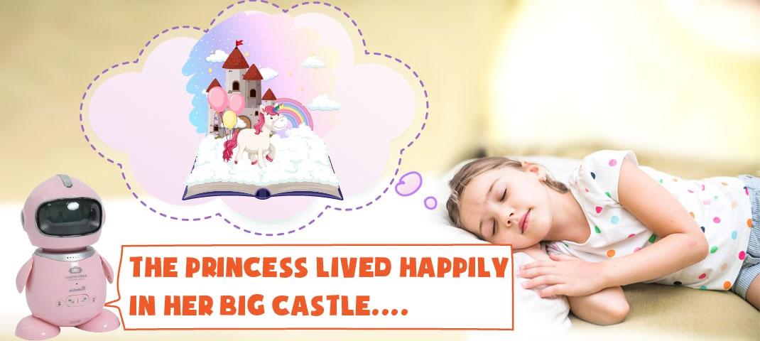 Tính năng giải trí, kể chuyện giúp bé dễ dàng đi vào giấc ngủ