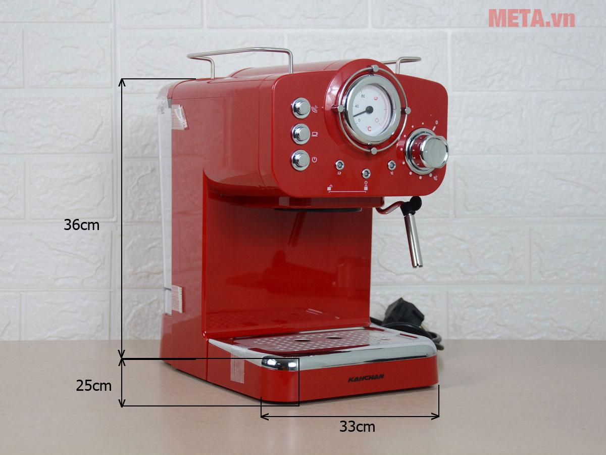 Kích thước của máy pha cà phê