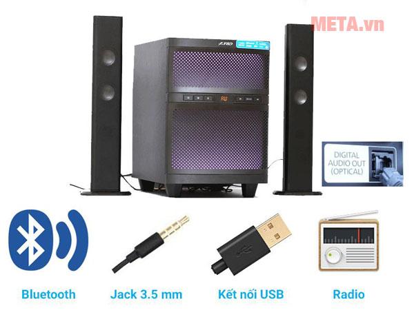 Có khả năng kết nối với các thiết bị khác thông qua jack 3.5m