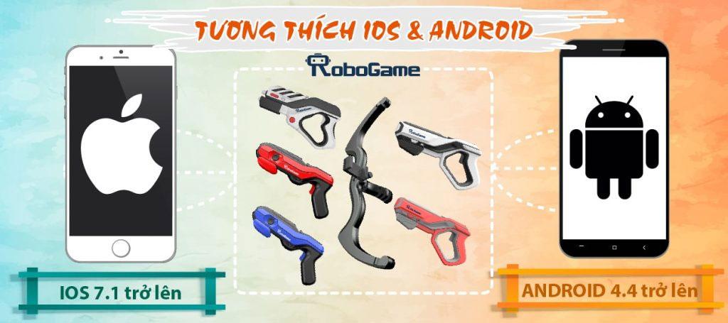 Tương thích với hệ điều hành androi và ios