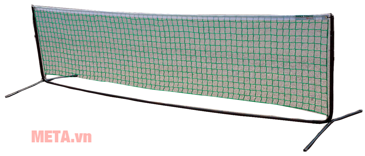 Bộ trụ tennis đã có lưới, có thể di chuyển tiện dụng