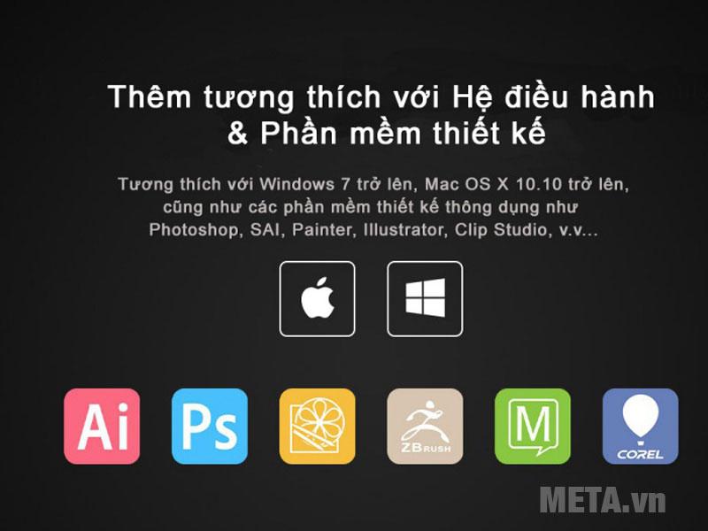 Phần mềm thiết kế tương thích với bảng vẽ