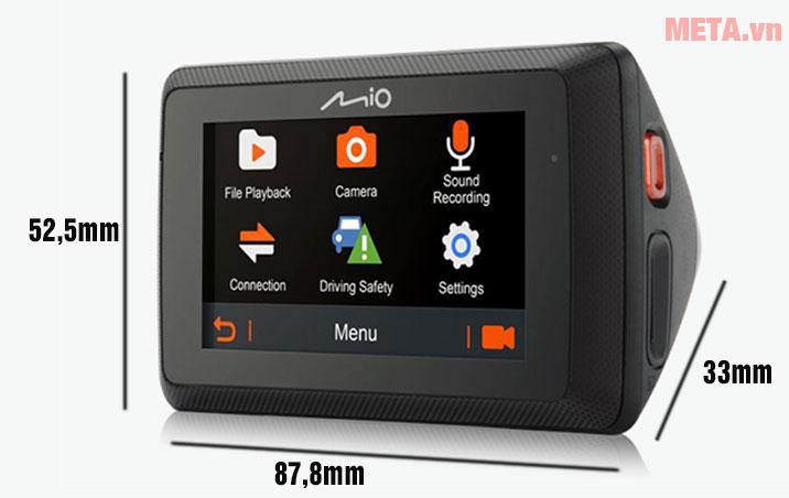 Kích thước camera hành trình Mio MiVue 785