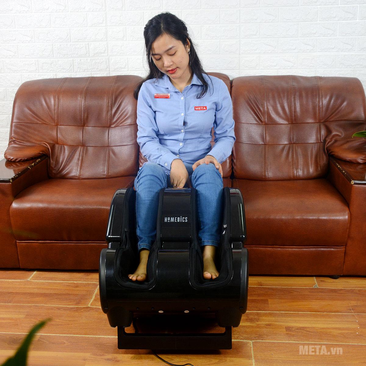 Máy massage giúp thư giãn từ bàn chân đến bắp chân