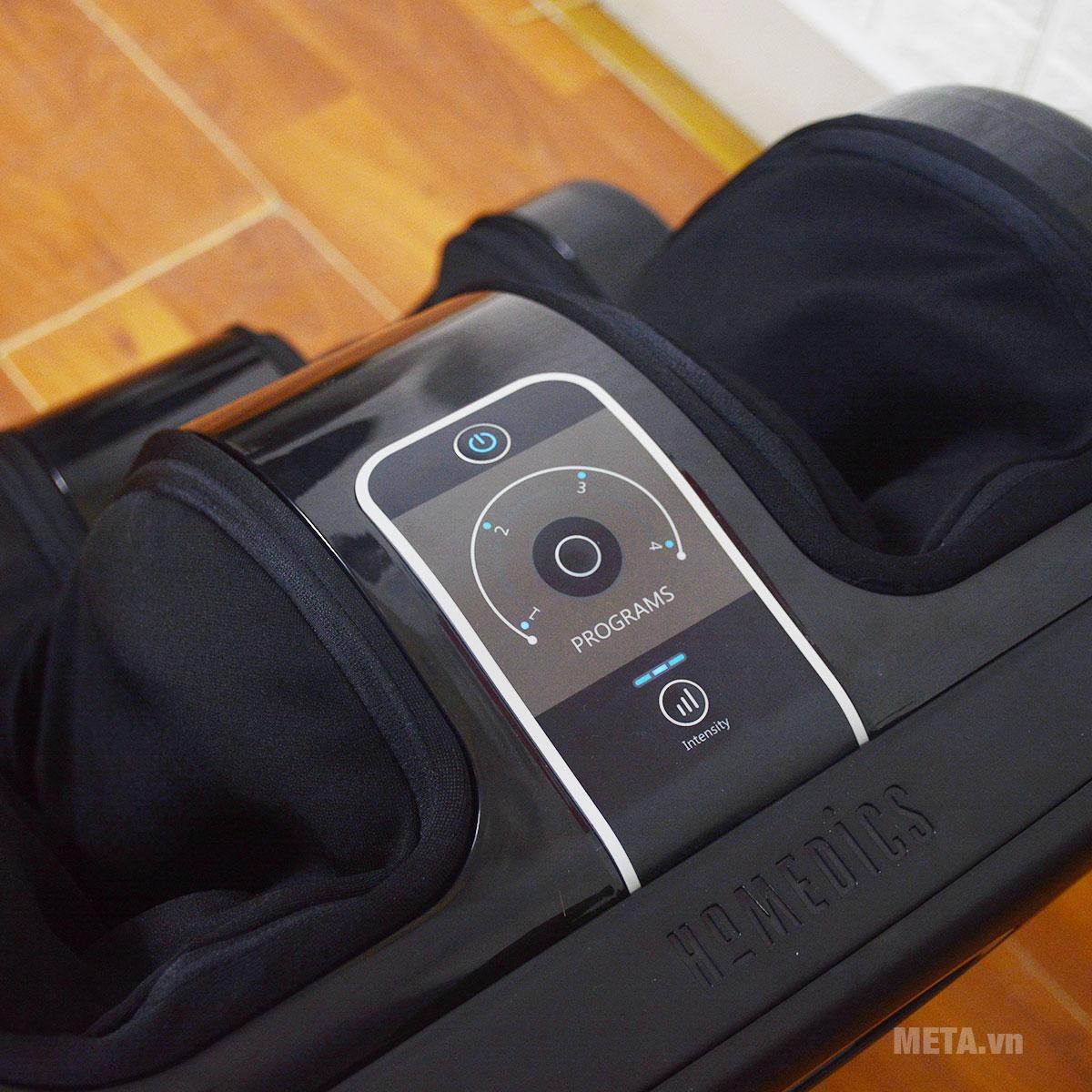 Máy massage chân HoMedics FMS-400J gồm 4 chương trình và 3 mức cường độ