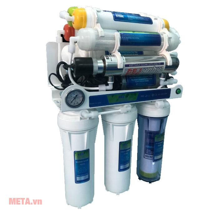 Máy lọc nước Eco Green HYDROGEN cấp UV có 10 lõi lọc