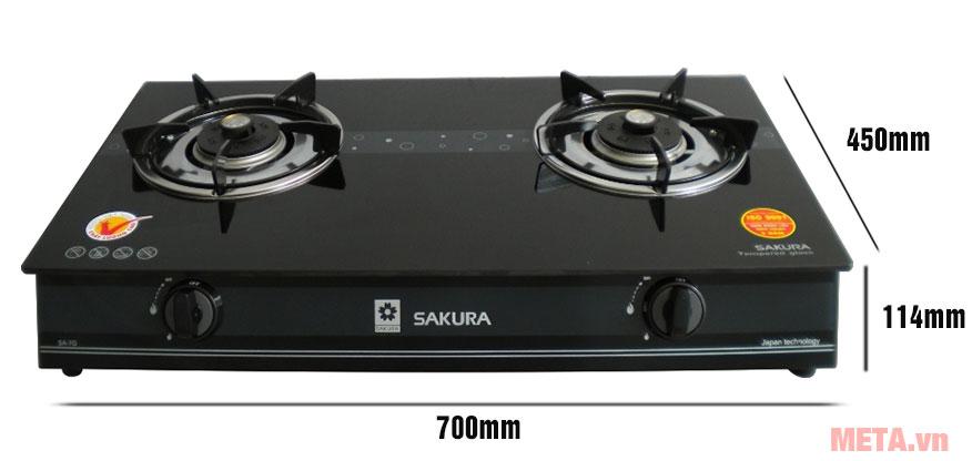 Kích thước bếp ga đôi Sakura SA-7G