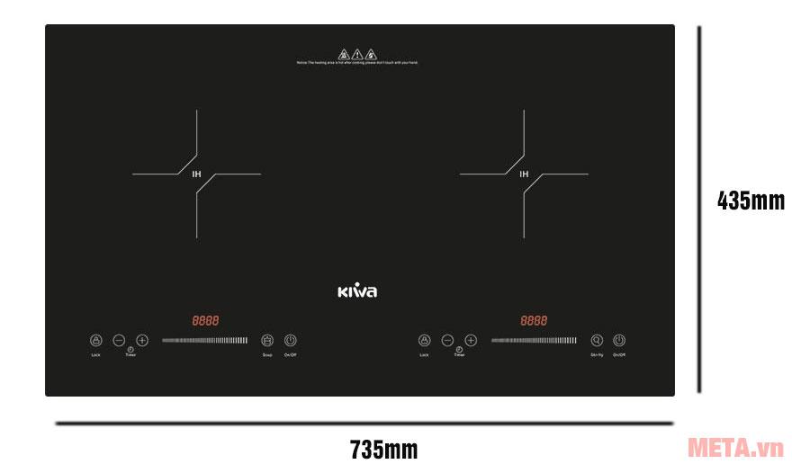 Kích thước bếp từ đôi Kiwa KI-251GB