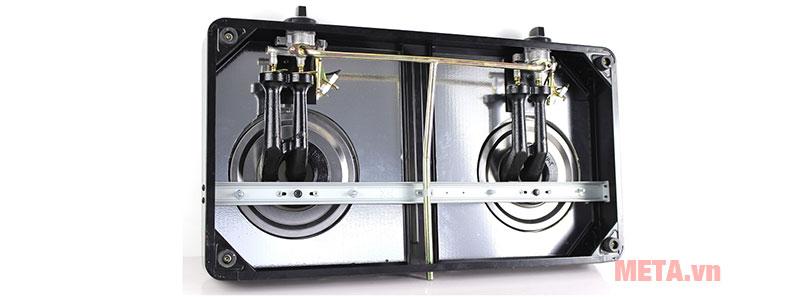 2 lò đun với lượng gas tiêu thụ chỉ 0.29 kg/h/lò