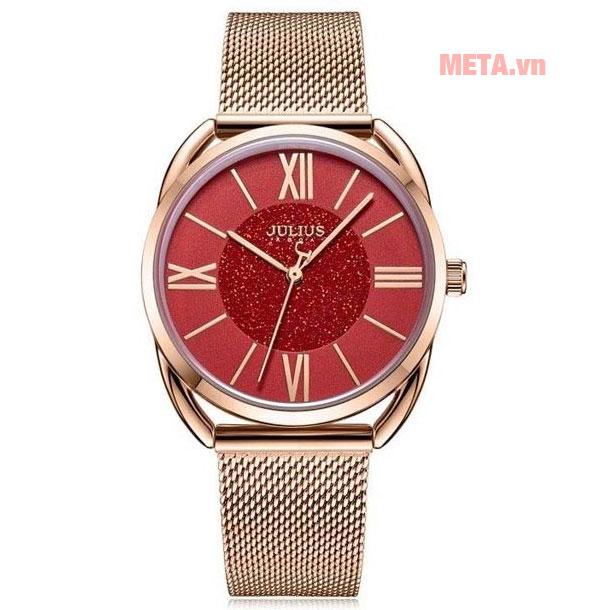 Đồng hồ nữ mặt đỏ