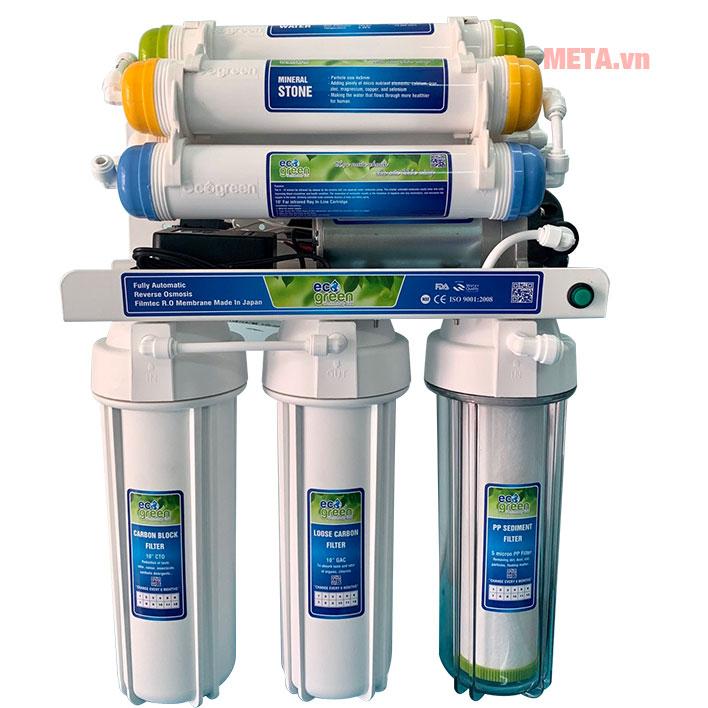 Qua 6 cấp lọc nước sẽ trở nên tinh khiết, sạch khuẩn