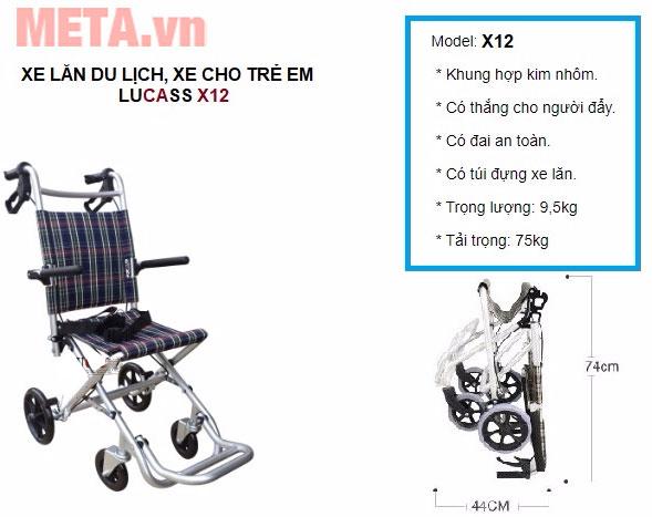 Xe lăn du lịch Lucass X12