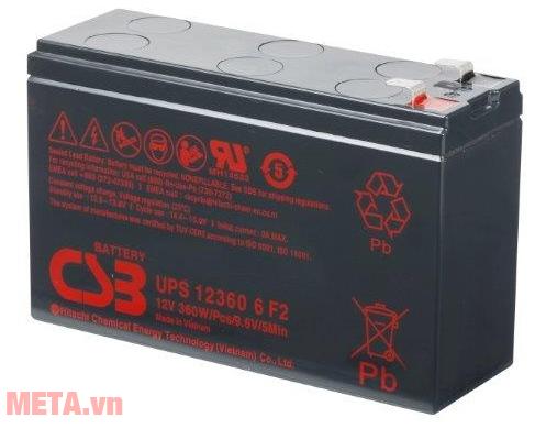 Ắc quy CSB 12V 6Ah UPS123606