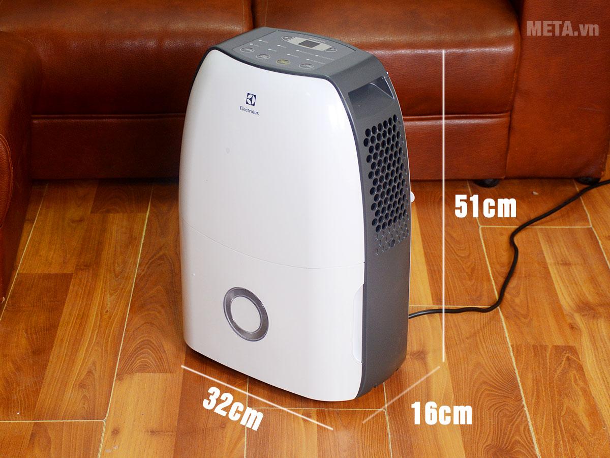 Kích thước máy hút ẩm điện tử Electrolux EDH16SDAW