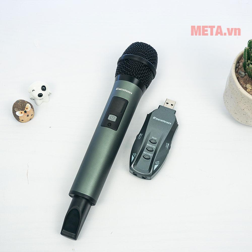 Mic không dây dễ dàng kết nối với loa bluetooth, tivi