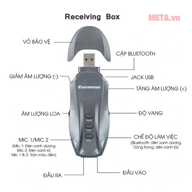 Điều khiển micro karaoke Excelvan K18U