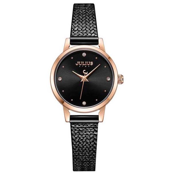 Hình ảnh đồng hồ dây và mặt đen