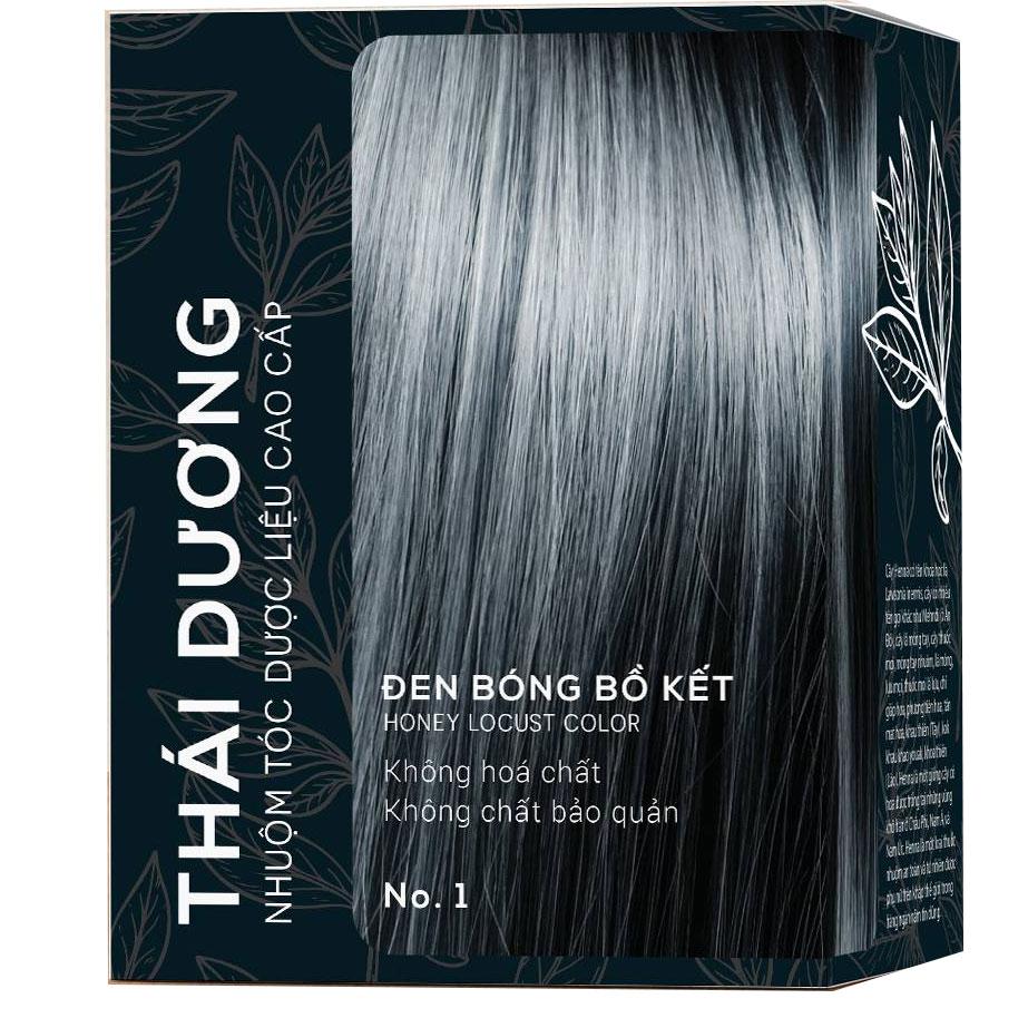 Dầu gội nhuộm tóc Thái Dương màu đen bồ kết
