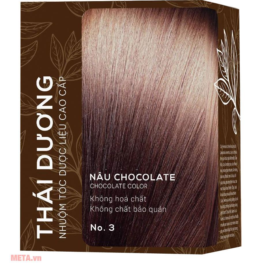 Nhuộm tóc dược liệu Thái Dương nâu Chocolate
