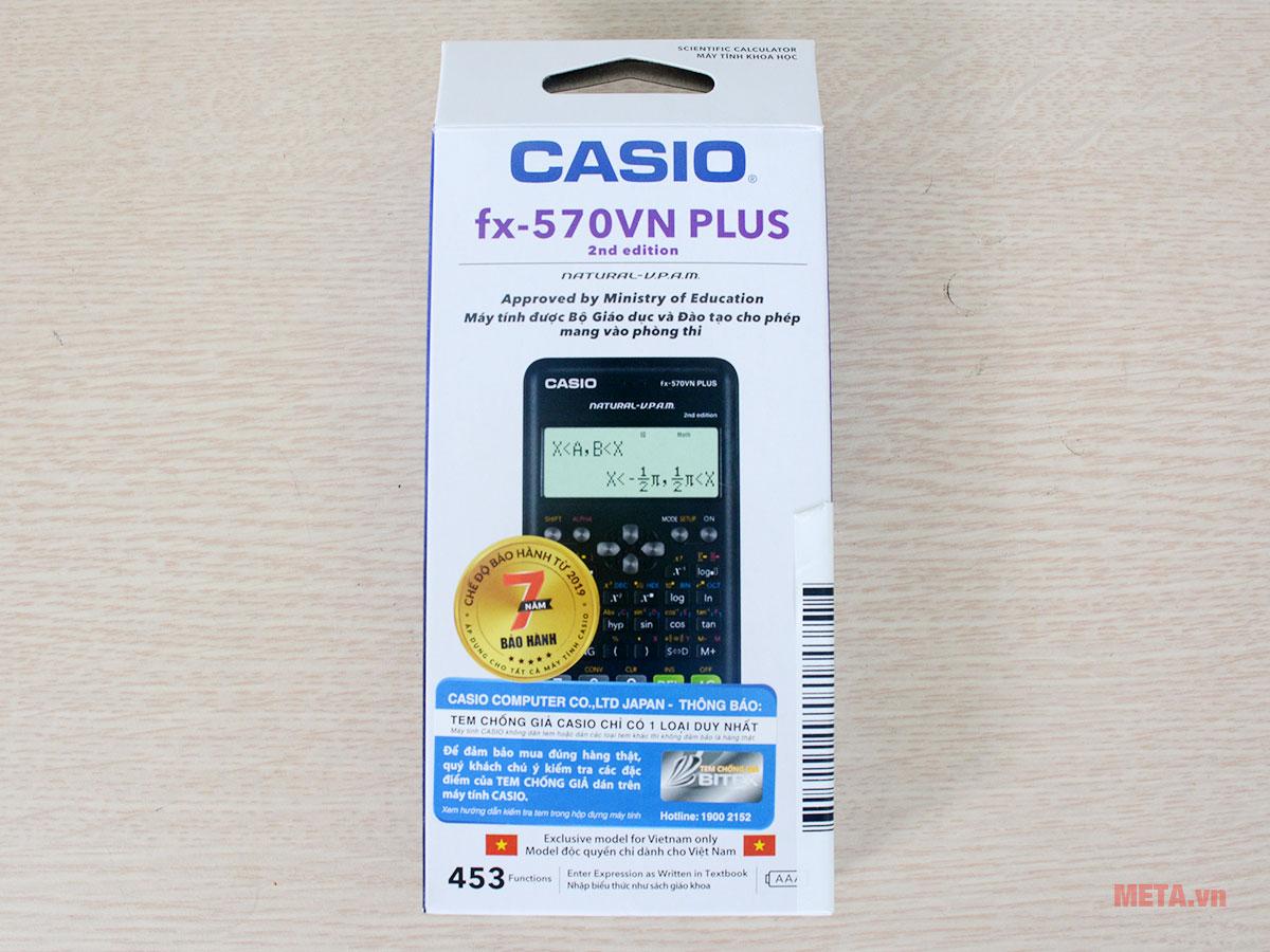 Bao bì sản phẩm máy tính bỏ túi Casio FX-570VN Plus