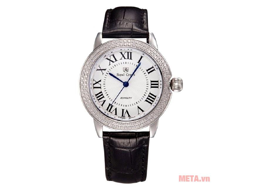 Đồng hồ nữ chính hãng Royal Crown 4601L-ST màu đen