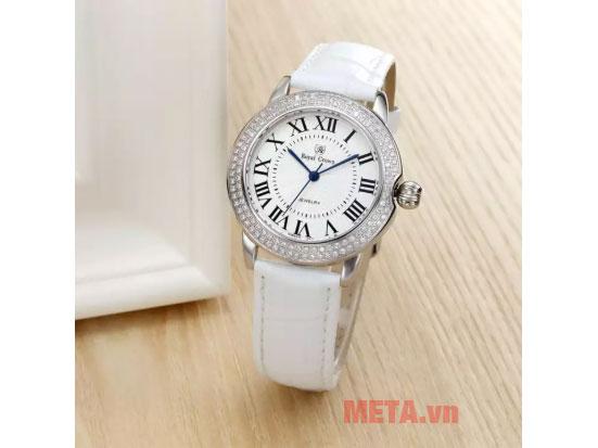 Đồng hồ nữ chính hãng Royal Crown 4601L-ST màu trắng