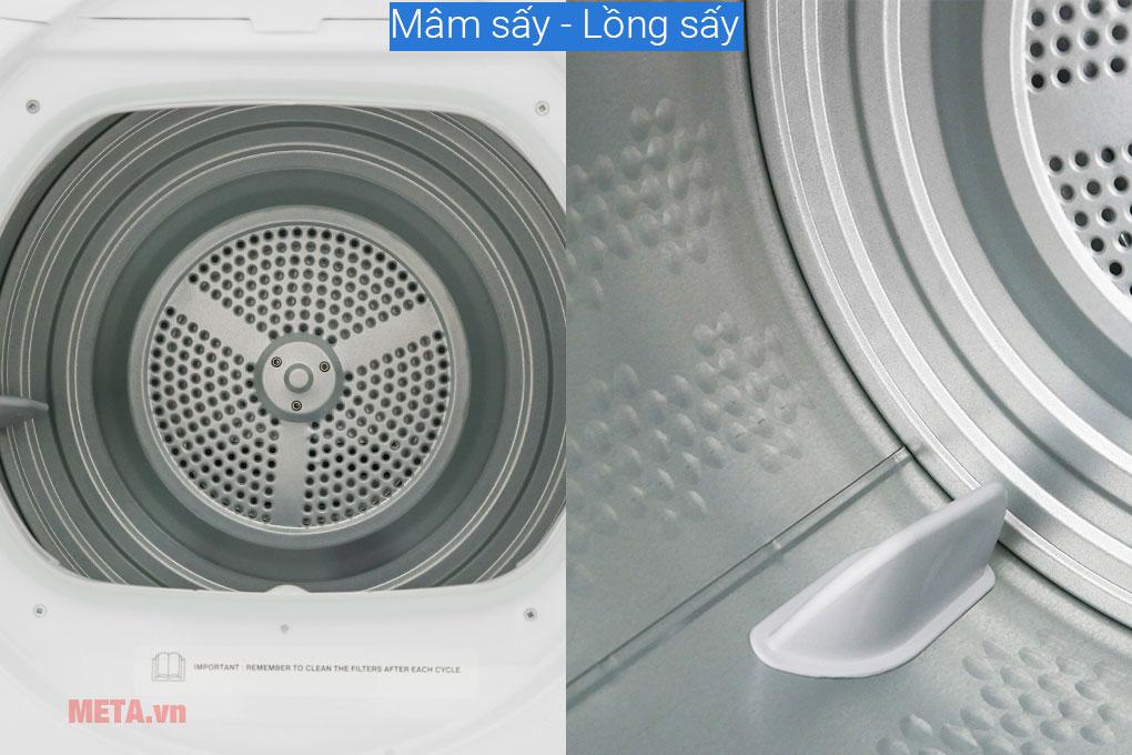 Lồng giặt và mâm giặt bằng thép không gỉ
