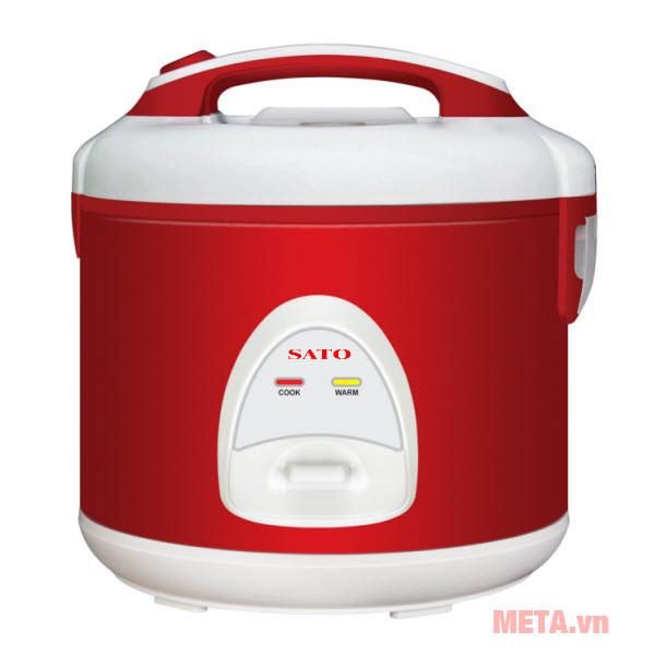 Nồi cơm điện SATO S18-83 1.8 lít màu đỏ