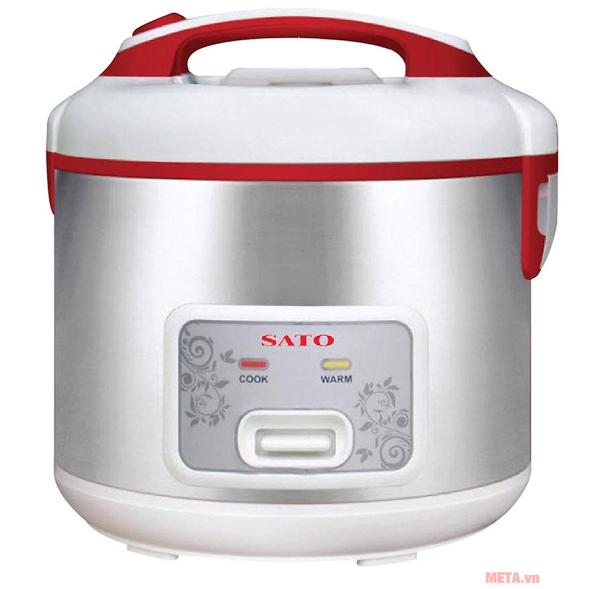 Nồi cơm điện SATO S18-83 1.8 lít màu bạc
