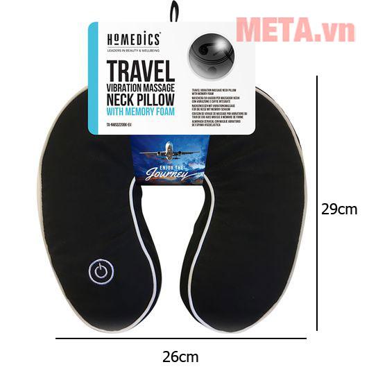 Kích thước của gối massage