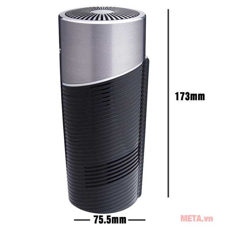 Kích thước máy lọc không khí thông minh dùng trên xe hơi FujiE AP100