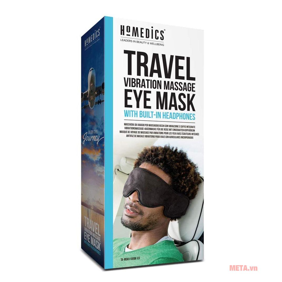 Hộp đựng máy massage mắt Homedics TA-MSKV100BK-EU