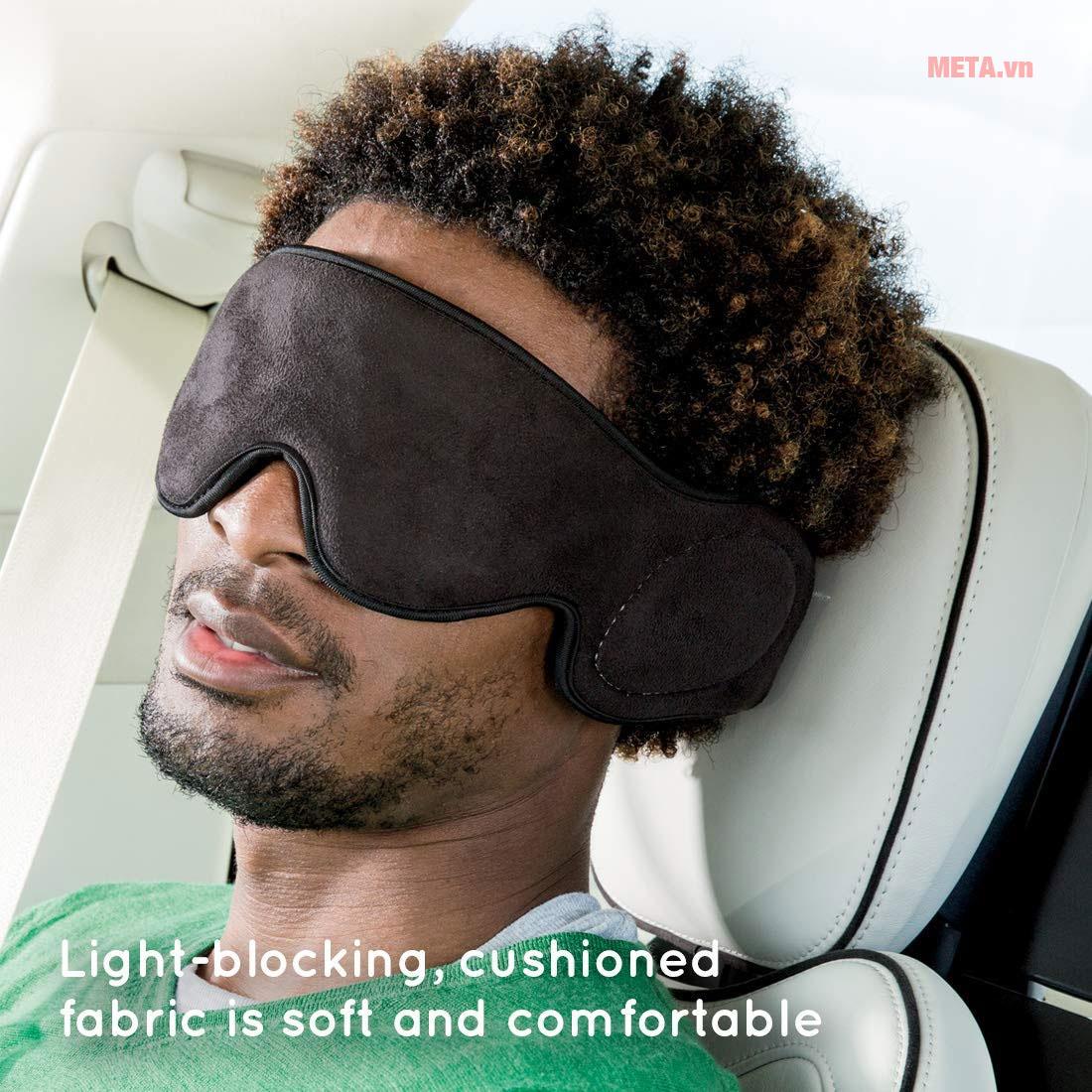 Máy massage mắt Homedics TA-MSKV100BK-EU giúp massage rung nhẹ nhàng
