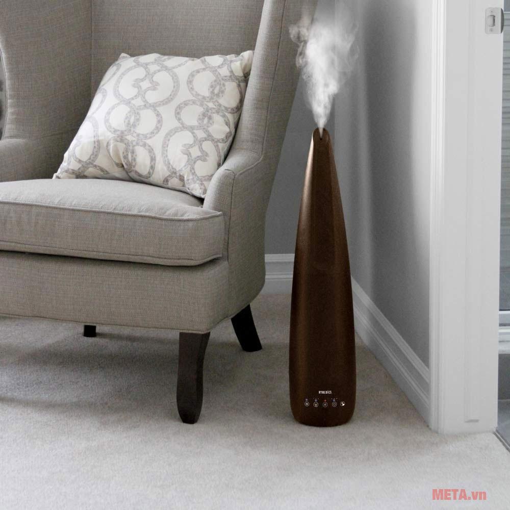 Máy tạo độ ẩm HoMedics UHE-WM11BD thiết kế vân gỗ đầy thẩm mỹ