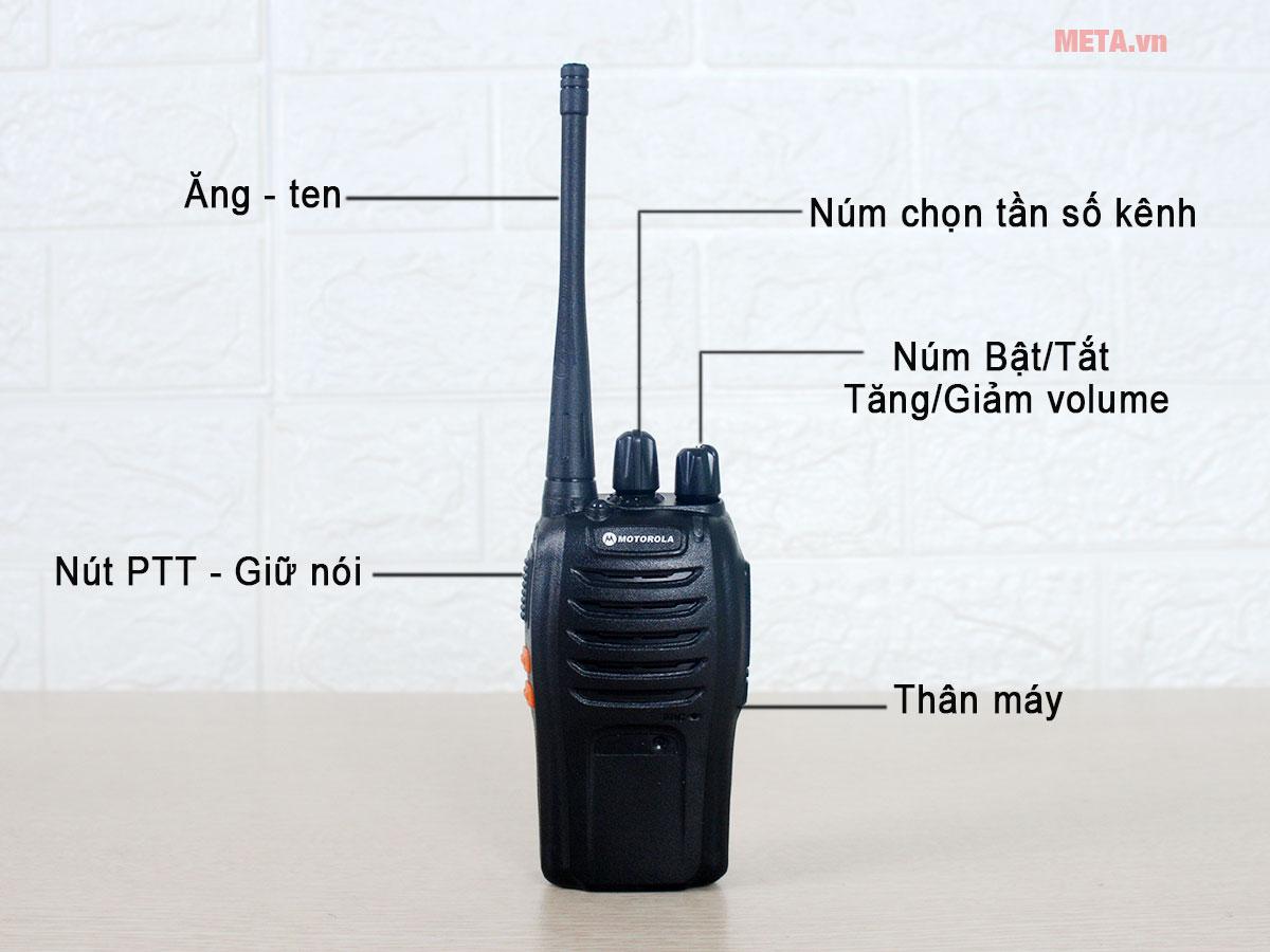 Cấu tạo bộ đàm Motorola GP 998
