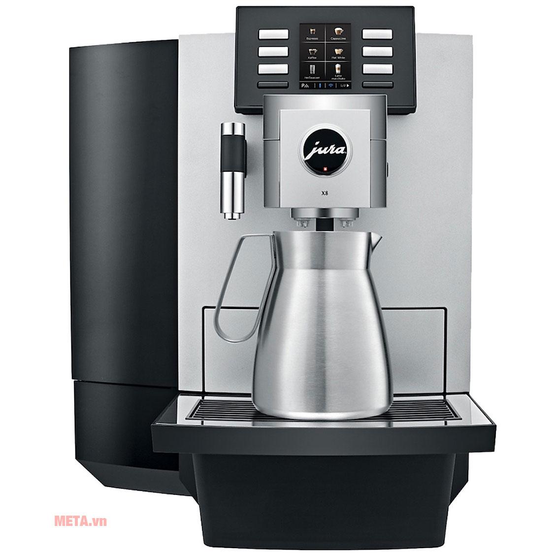Máy pha cà phê Jura X8 Platin sử dụng trong nhà hàng